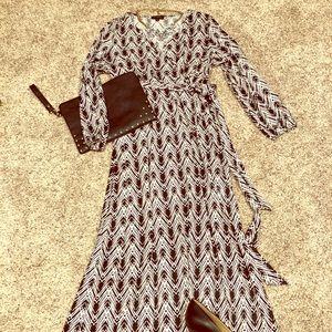 Like new AA Studio faux wrap maxi dress